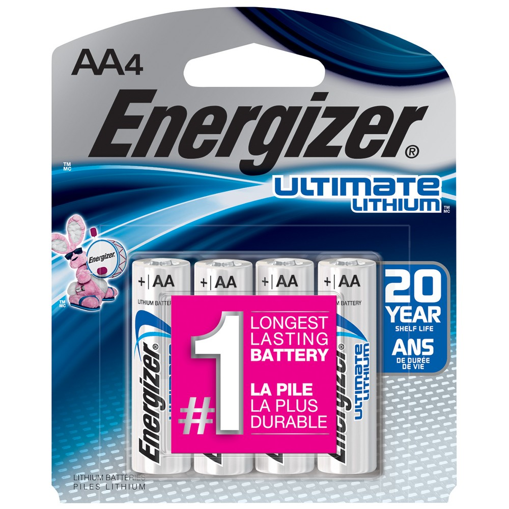 UPC 039800035066 product image for Energizer Ultimate Lithium AA Batteries 4 Count (L91BP-4) | upcitemdb.com