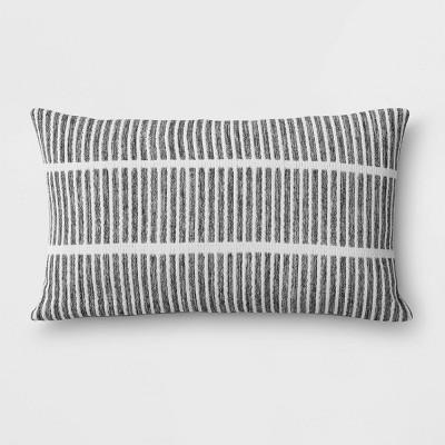 Outdoor Lumbar Throw Pillow Gray - Project 62™