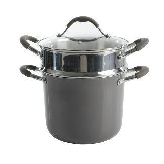 Cravings by Chrissy Teigen 6qt Aluminum Stock Pot with Steamer Insert - Shadow