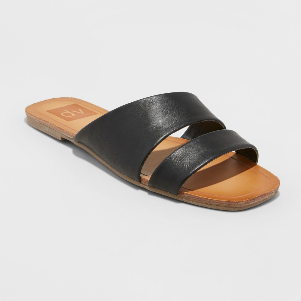 Women's dv Bryn Asymmetrical Slide Sandals - Black 6