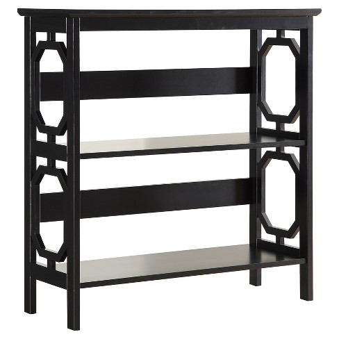 "Omega 3 Tier Bookcase 32.5"" Black - Convenience Concepts® - image 1 of 3"
