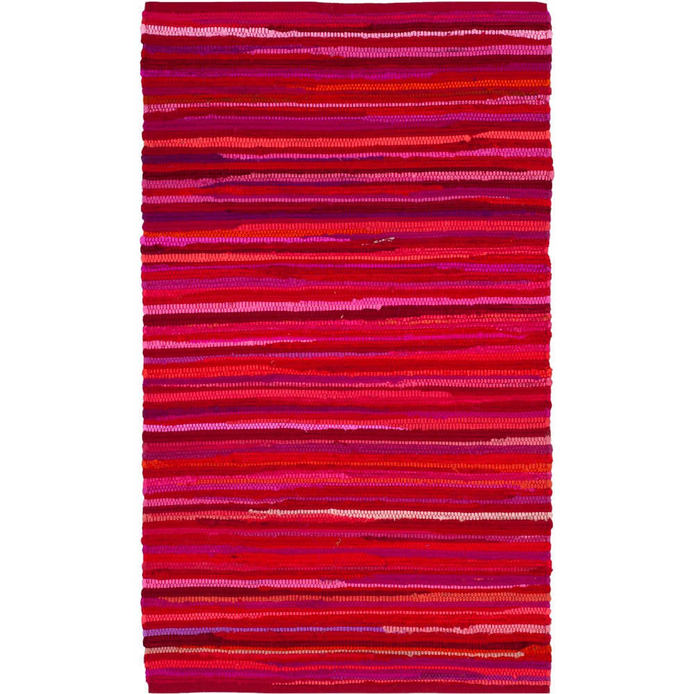 2'X3' Spacedye Design Woven Accent Rug Red - Safavieh, Red/Multi-Colored