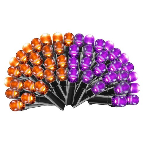Philips 100ct Halloween LED Dome String Lights Orange/Purple - image 1 of 2
