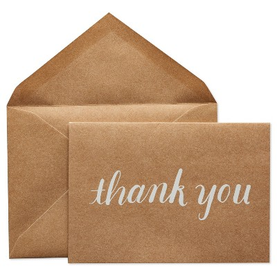 24ct Thank You Cards with Envelopes White - Spritz™