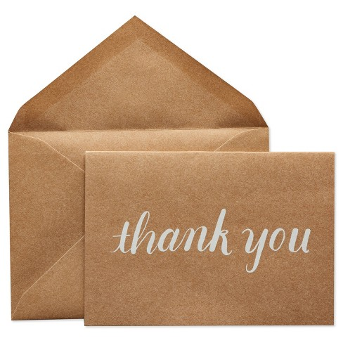 24ct Thank You Cards with Envelopes White - Spritz™ - image 1 of 4