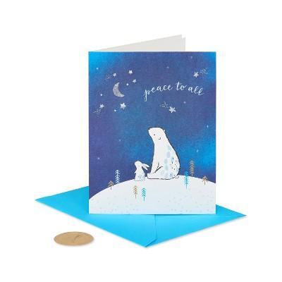 Christmas Card Bear and Bunny - PAPYRUS