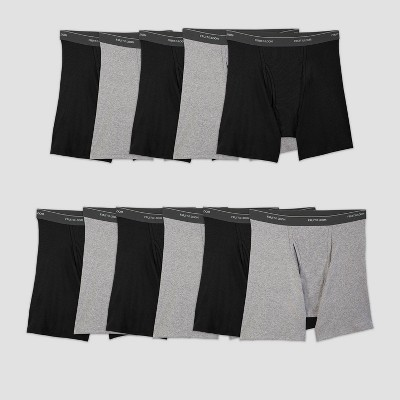 Fruit of the Loom Men's 5+6 Super Value Pack Coolzone Boxer Briefs - Black/Gray L