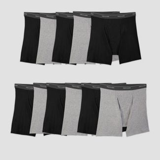 Fruit of the Loom Men's 5+6 Super Value Pack Coolzone Boxer Briefs - Black/Gray M