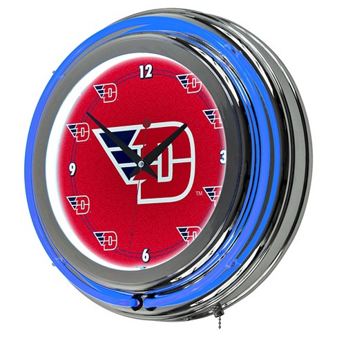 "NCAA Dayton Flyers Neon Clock - 14"" - image 1 of 1"