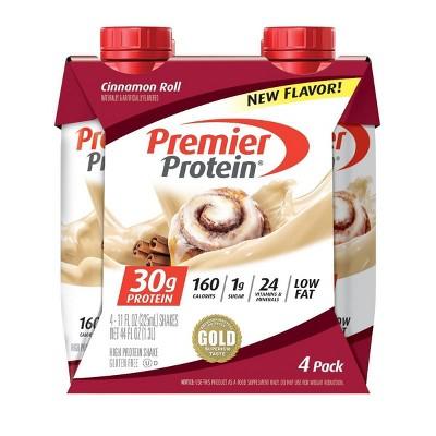 Premier Protein Shake - Cinnamon Roll - 4pk/44 fl oz