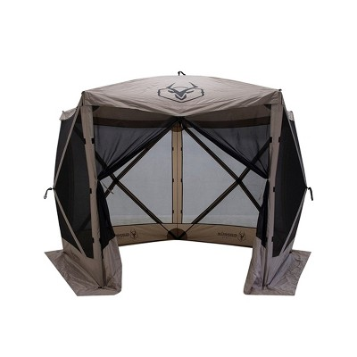 Gazelle GG501DS Easy Pop Up, Portable, Waterproof, UV-Resistant 4-Person Camping and Outdoors Gazebo Day Tent with Mesh Windows, Desert Sand