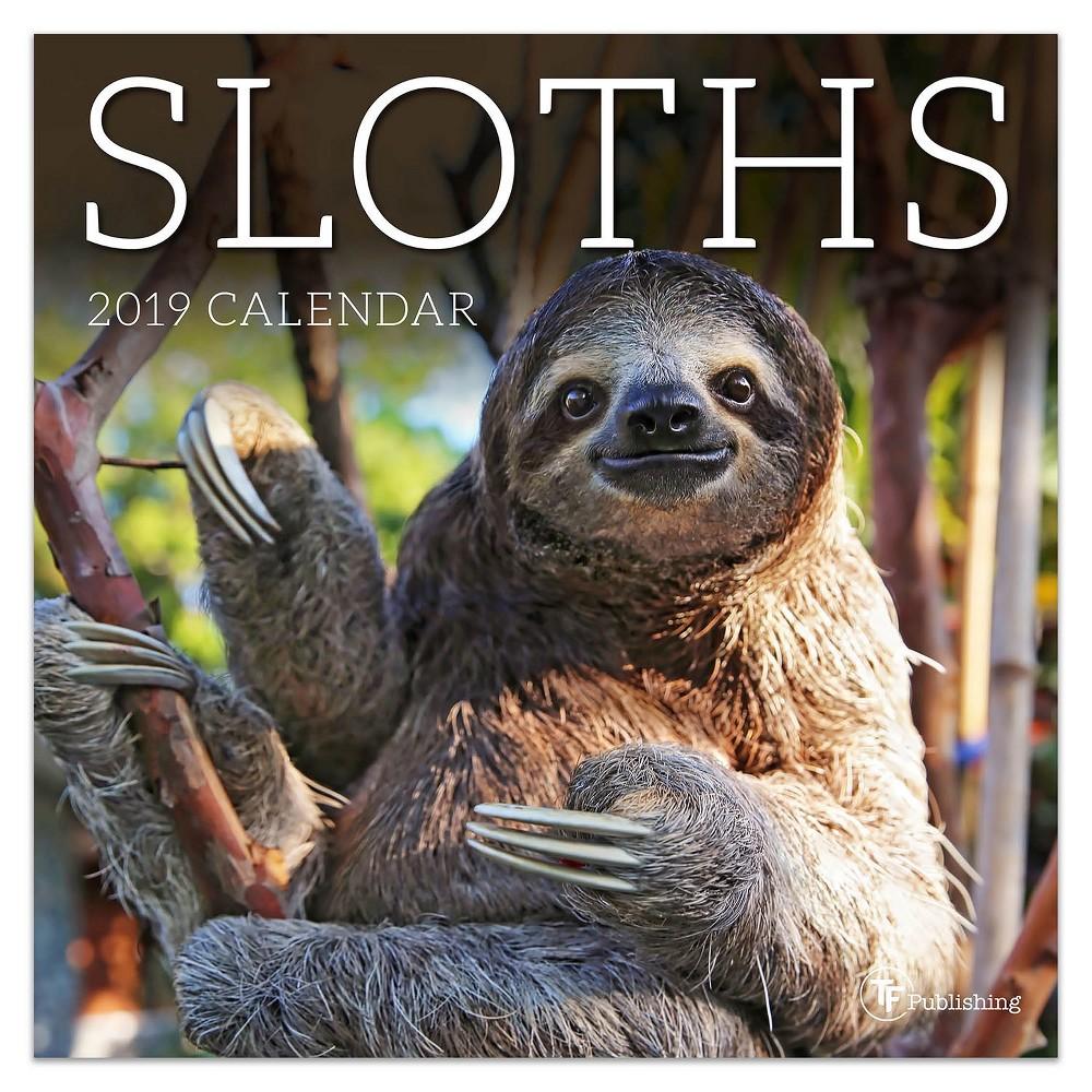 2019 Wall Calendar Mini Sloths - TF Publishing, 2019 Tf Publishing Sloths Mini Calendar