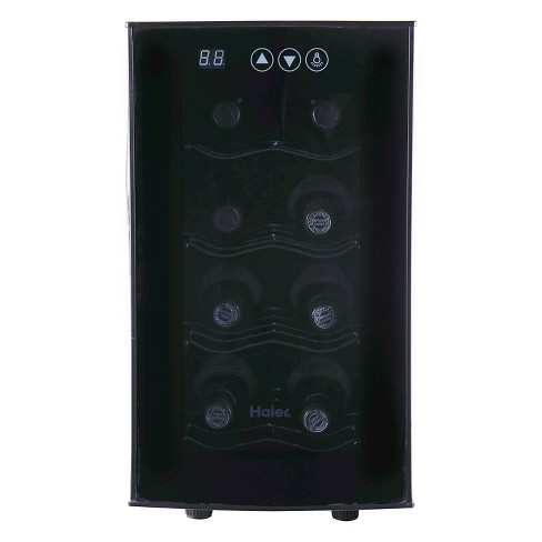 Haier 8 bottle Ultra Quiet, Wine cellar, Black, Electronic Controls, HVTEC08ABS - image 1 of 6