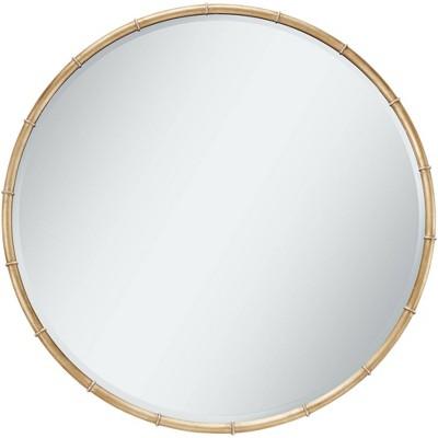 "Uttermost Morgan Antique Gold Leaf 34"" Round Ring Framed Wall Mirror"