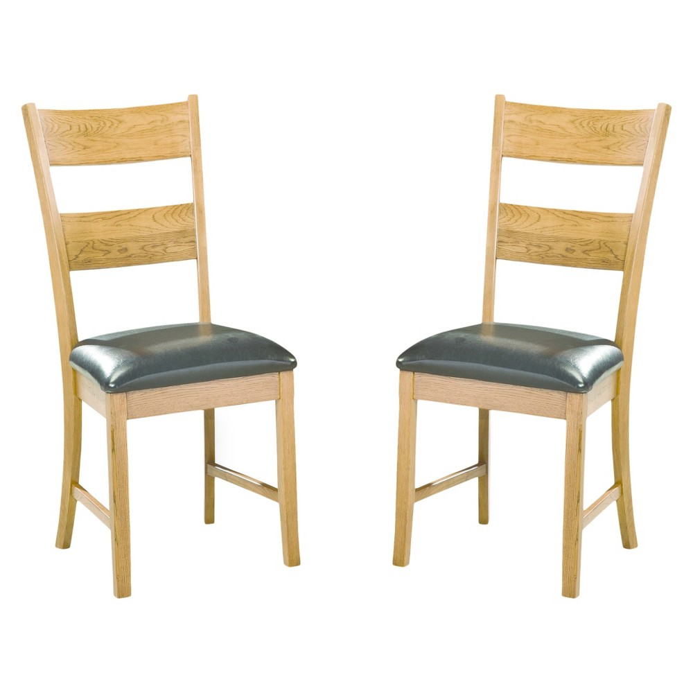 Image of Family Dining Ladderback Side Chair Chestnut Finish (Set of 2) - Intercon, Brown