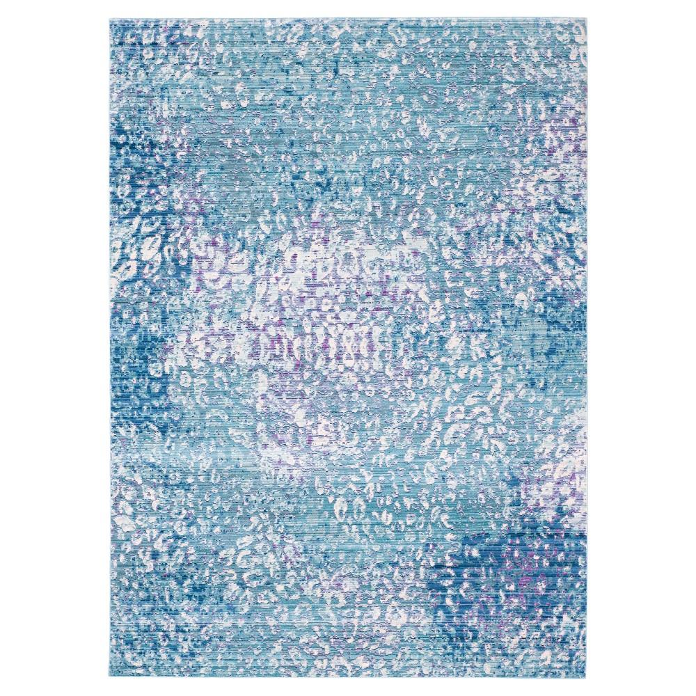 Blue Multi Burst Loomed Area Rug 8'x10' - Safavieh