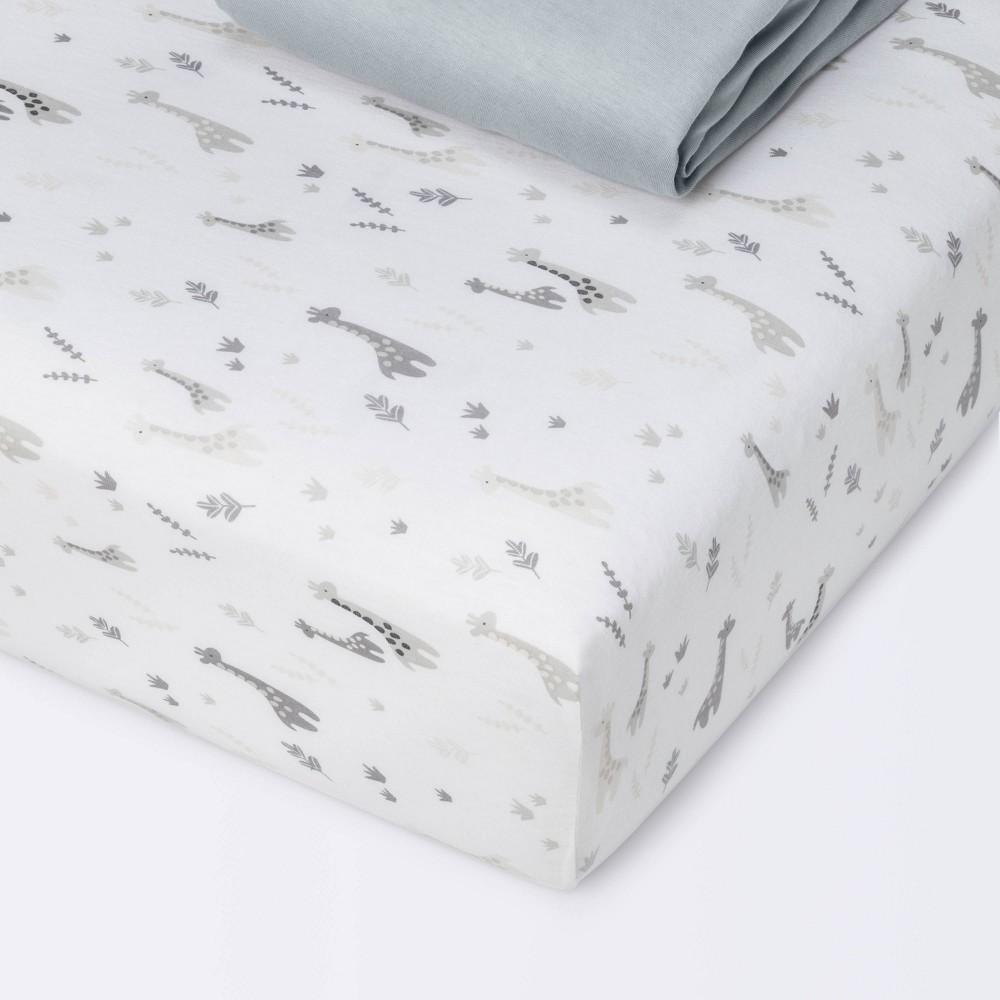Fitted Crib Sheet Jersey Sheet Cloud Island 8482 Giraffes Dark