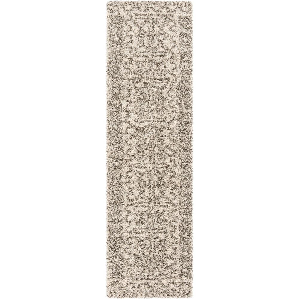 22X8 Geometric Design Loomed Runner Ivory/Gray - Safavieh Top