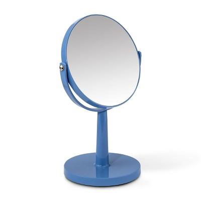 Plastic Vanity Mirror Blue - 88 Main