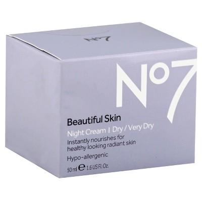 No7 Beautiful Skin Night Cream Dry/Very Dry   1.6oz by 1.6oz