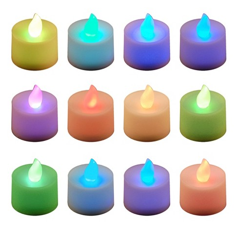 12ct Color Changing Battery Operated Led Tea Lights Target