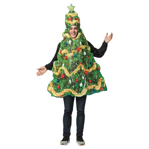 Adult Get Real Christmas Tree Tunic Costume - image 1 of 1