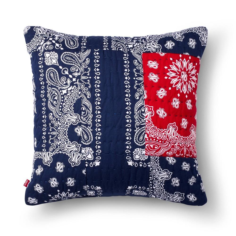 18 34 X18 34 Patchwork Bandana Print Throw Pillow Blue Levi 39 S 174 X Target
