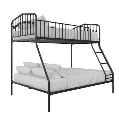 Twin/Full Kids' Bushwick Metal Bunk Bed Black - Novogratz