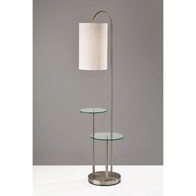 Leonard Shelf Floor Lamp Silver - Adesso