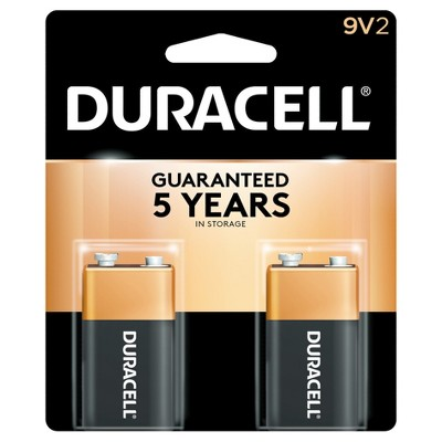 Duracell Copper Top 9V Alkaline Batteries - 2ct