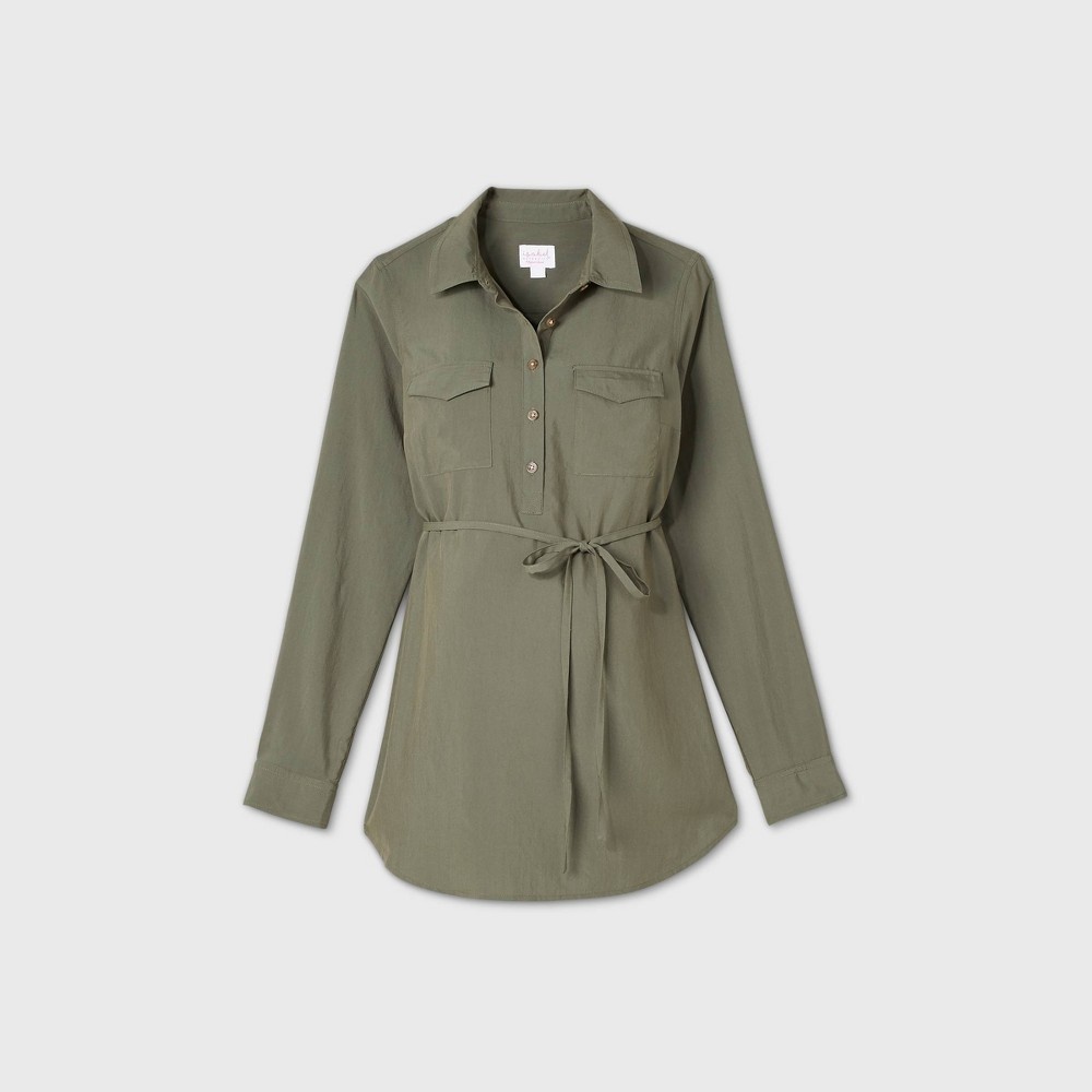 Reviews Maternity Long leeve Utility hirt - Iabel Maternity by Ingrid & Iabel™ Olive Green