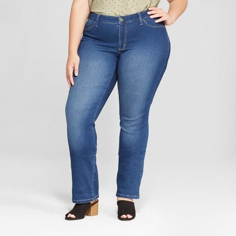 c066958fbf6 Women s Plus Size Straight Leg Jeans - Universal Thread™ Medium Wash ...