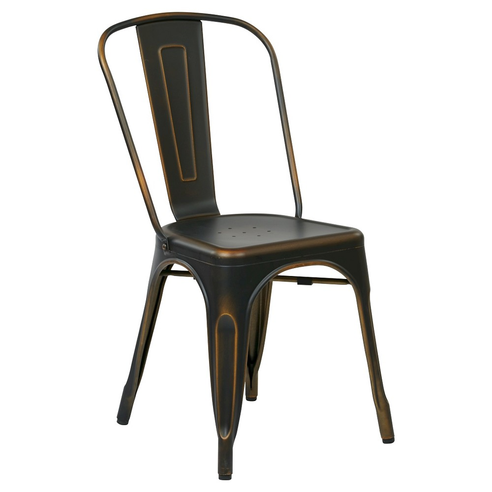 Set Of 2 Bristow Armless Chair Metal Copper Osp Home Furnishings