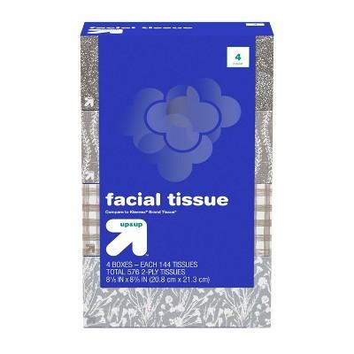 Facial Tissues - 4pk/144ct - Up&Up™
