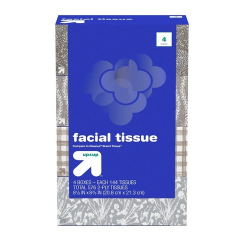 Facial Tissues - 4pk/144ct - Up&Up™ (Compare to Kleenex) - image 1 of 5