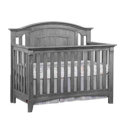 Oxford Baby Willowbrook 4-in-1 Convertible Crib - Graphite Gray