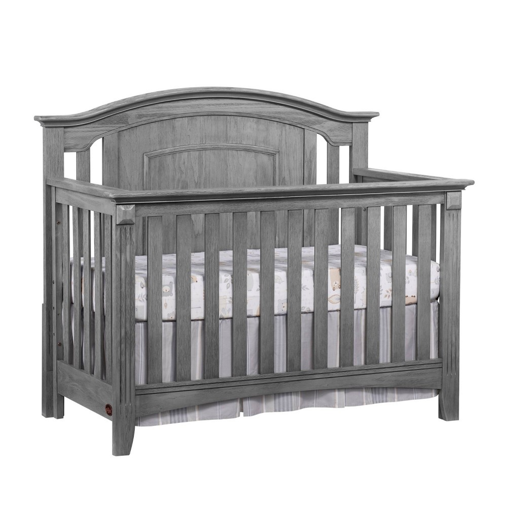 Top Oxford Baby Willowbrook 4-in-1 Convertible Crib - Graphite