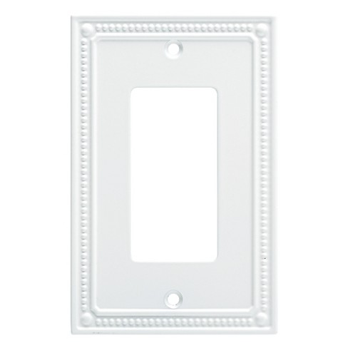 Franklin Brass Classic Beaded Single Decorator Wall Plate White - image 1 of 3