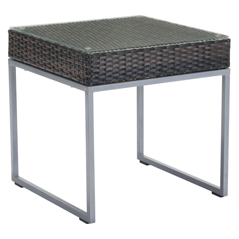 "Image of ""22"""" Modular Modern Side Table Brown/Silver - ZM Home, Silver Brown"""