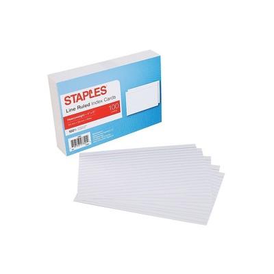Staples 4X6 HVY LND INDXCRD WHT 100CT 2622142
