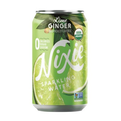 Nixie Lime Ginger Sparkling Water - 8pk/12 fl oz Cans