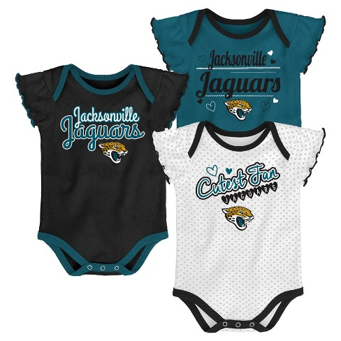 NFL Jacksonville Jaguars Girls' Newest Fan 3pk Bodysuit Set - image 1 of 4