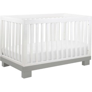 Babyletto Modo 3-in-1 Convertible Crib with Toddler Rail White/Gray