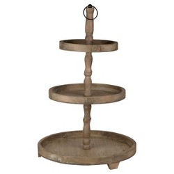 Woodruff 3-Tier Round Serving Tray - A&B Home