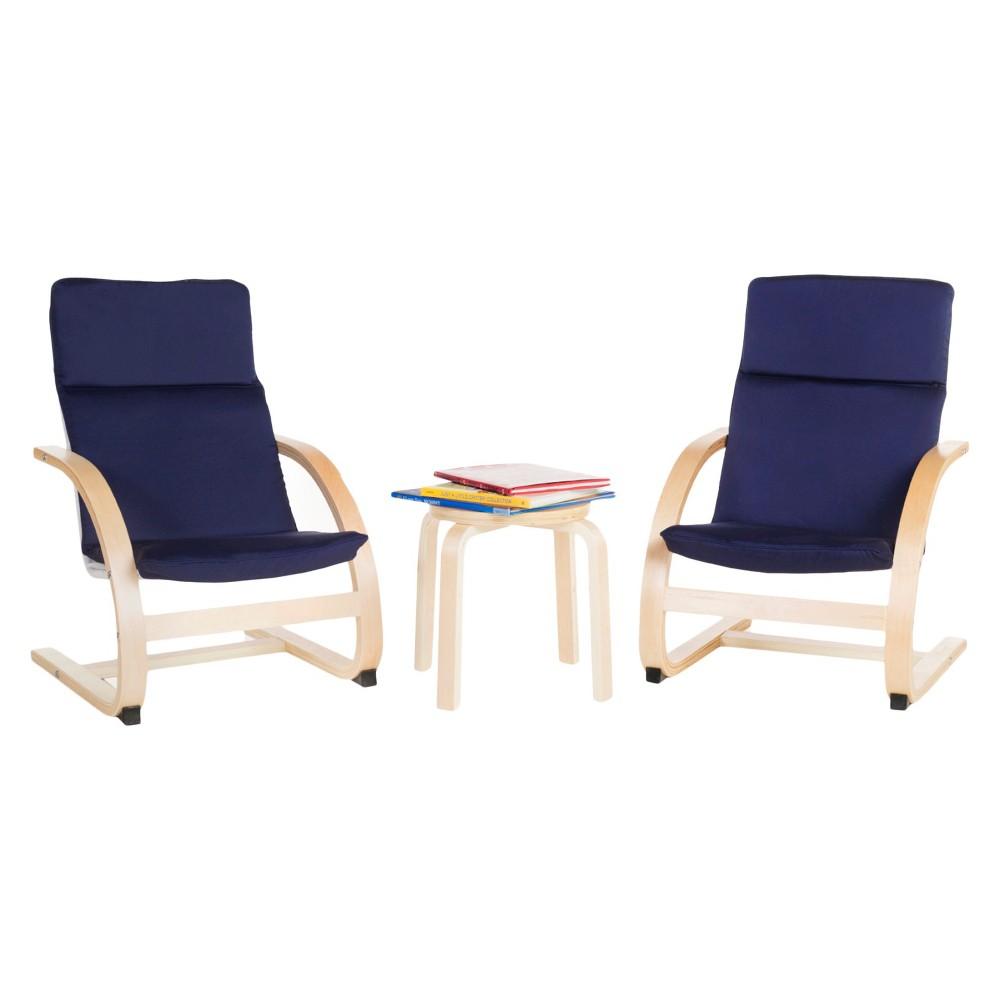 Kids Rocker Chair Set with Table - Blue - Guidecraft