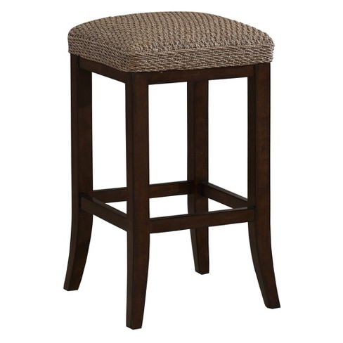 "Lafayette Seagrass Cushioned 30"" Barstool Hardwood/Light Brown- American Heritage Billiards - image 1 of 2"