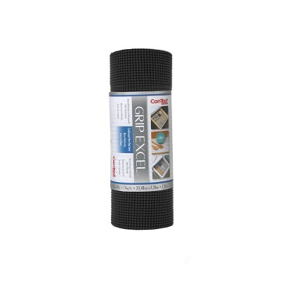 Con-Tact Brand Grip Excel Grip Non-Adhesive Shelf Liner - Black (12''x 14')