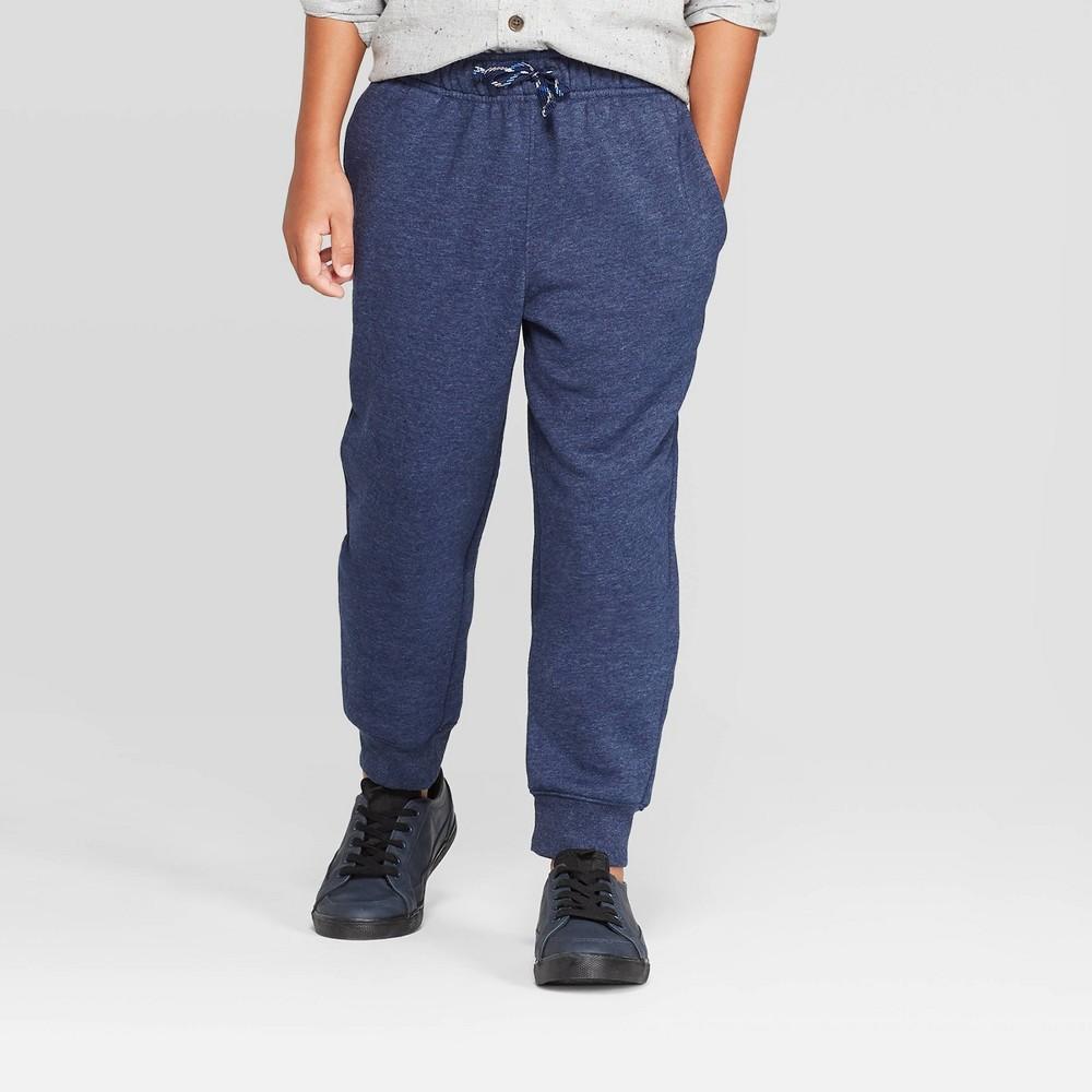 Image of Boys' Fleece Jogger Pants - Cat & Jack Navy L, Boy's, Size: Large, Blue
