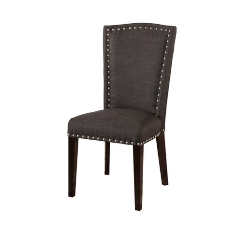 Karlens Dining Chair - Charcoal - Abbyson - image 1 of 5