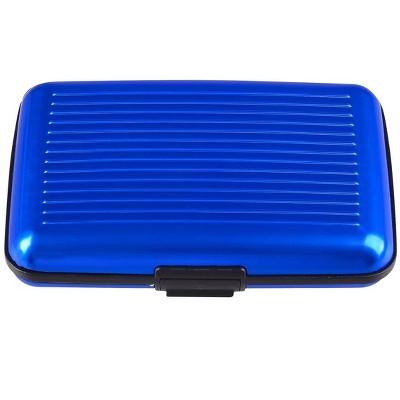 Zodaca Blue Business Aluminum ID Credit Card Wallet Case Holder Metal Box Pocket